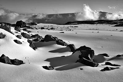Ps I Love You - Deep Snow in Black and White by Heidi Fickinger