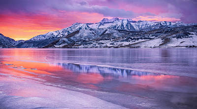 Royalty-Free and Rights-Managed Images - Deer Creek Ice Panorama by Johnny Adolphson