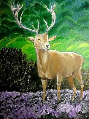 Nirvana - Deer In Scotland by Irving Starr