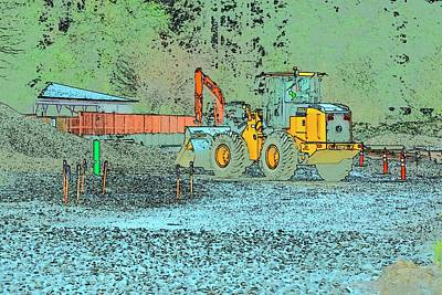 Jerry Sodorff Royalty-Free and Rights-Managed Images - Deere Excavator by Jerry Sodorff