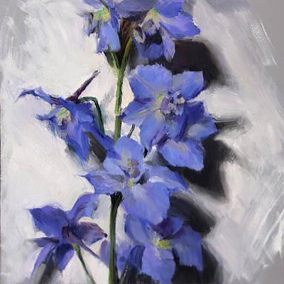 Painting - Delphinium Study by Anna Bain