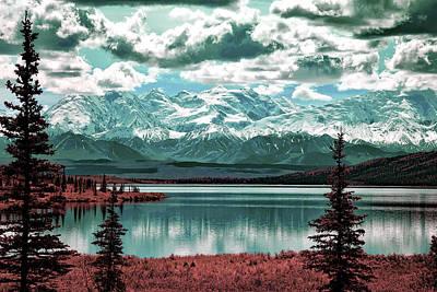 Surrealism Royalty Free Images - Denali National Park Alaska - Surreal Art by Ahmet Asar Royalty-Free Image by Celestial Images