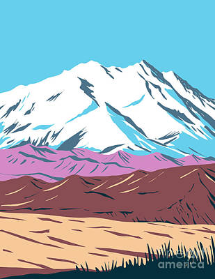 The Champagne Collection - Denali National Park and Preserve formerly known as Mount McKinley National Park located in Interior Alaska WPA Poster Art by Aloysius Patrimonio