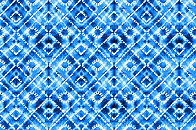 Royalty-Free and Rights-Managed Images - Denim blue tie die texture repeat modern pattern by Julien