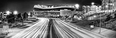 Sports Royalty-Free and Rights-Managed Images - Denver Colorado Mile High Stadium Panorama - Black and White by Gregory Ballos