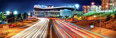 Sports Royalty-Free and Rights-Managed Images - Denver Colorado Mile High Stadium Panorama by Gregory Ballos
