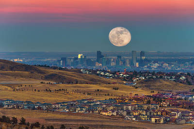 Royalty-Free and Rights-Managed Images - Denver Super Wolf Moon by Darren White