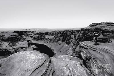 Amy Hamilton Watercolor Animals - Desert at Horseshoe Bend Arizona in black and white  by Tim LA