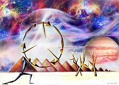 Surrealism Digital Art - Desert Dancers Circle of Life by David Neace