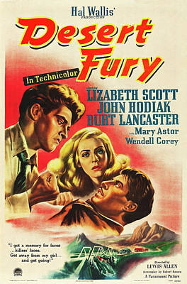 Personalized Name License Plates - Desert Fury, with Lizabeth Scott and Burt Lancaster, 1947 by Stars on Art