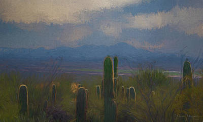 Digital Art - Desert Landscape - 0591 by Wally Hampton