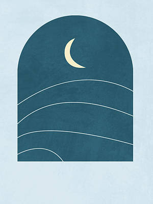 Royalty-Free and Rights-Managed Images - Desert Moon - Blue - A window with a view by Studio Grafiikka