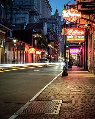 Photograph - Deserted Bourbon Street by Chase This Light Photography