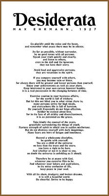 The Rolling Stones Royalty Free Images - Desiderata by Max Ehrmann - Literary print 7 - Go Placidly Amid the noise and the haste Royalty-Free Image by Studio Grafiikka