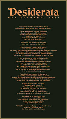 The Rolling Stones Royalty Free Images - Desiderata by Max Ehrmann - Literary print 8 - Go Placidly amid the noise and the haste Royalty-Free Image by Studio Grafiikka
