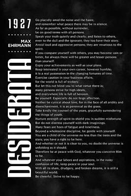 Mixed Media Royalty Free Images - Desiderata Poster - Max Ehrmann - Typographic Print - Literary Poster 15 Royalty-Free Image by Studio Grafiikka