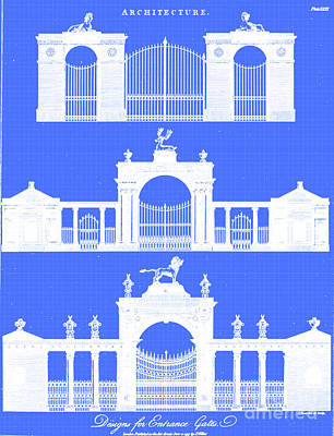 Drawings Royalty Free Images - Design for entrance gates i1 Royalty-Free Image by Historic illustrations