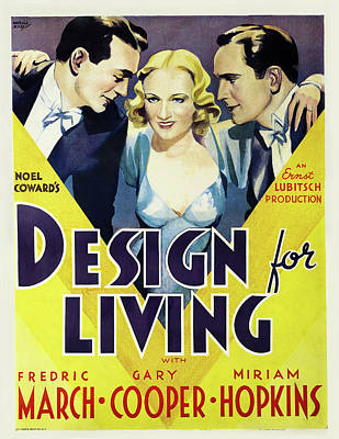 Royalty-Free and Rights-Managed Images - Design For Living, with Gary Cooper, 1933 by Stars on Art