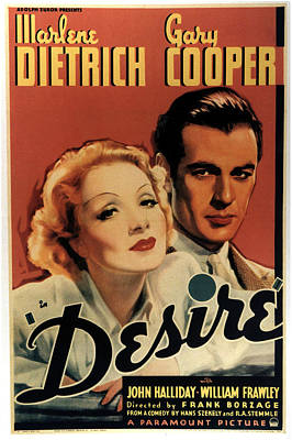 Royalty-Free and Rights-Managed Images - Desire, with Marlene Dietrich and Gary Cooper, 1936 by Stars on Art