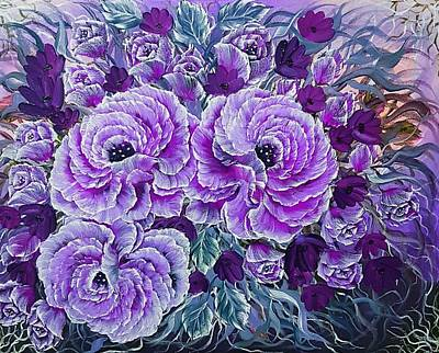 Grace Kelly - Desire you more purple  by Angela Whitehouse