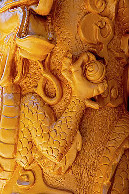 Truck Art Rights Managed Images - Detail of Column Chinatown NYC Royalty-Free Image by Robert Ullmann
