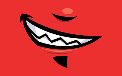 Royalty-Free and Rights-Managed Images - Devilish Grin Cartoon Mouth by John Schwegel