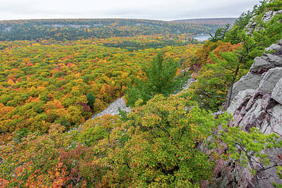 Photograph - Devil's Lake Autumn Vista by Sebastian Musial