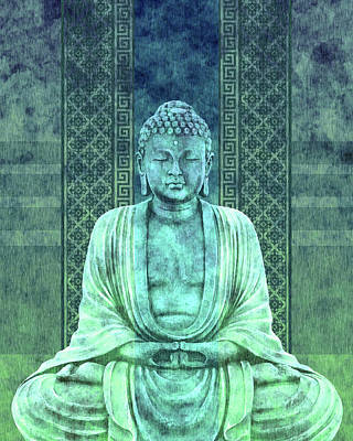 Royalty-Free and Rights-Managed Images - Dhyana - Buddha in Meditation 02 by Studio Grafiikka