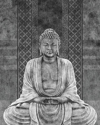 Royalty-Free and Rights-Managed Images - Dhyana - Buddha in Meditation 03 by Studio Grafiikka