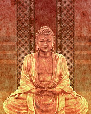 Royalty-Free and Rights-Managed Images - Dhyana - Buddha in Meditation 04 by Studio Grafiikka