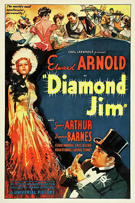Winter Animals - Diamond Jim movie poster, with Edward Arnold, 1935 by Stars on Art