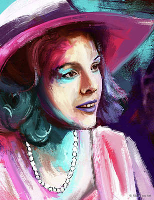 Royalty-Free and Rights-Managed Images - Diane Keaton painting by Stars on Art