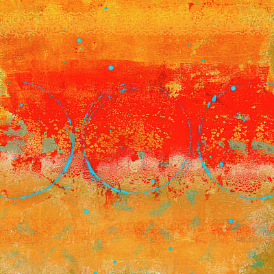 Mixed Media - Digging for Gold Abstract by Carol Leigh