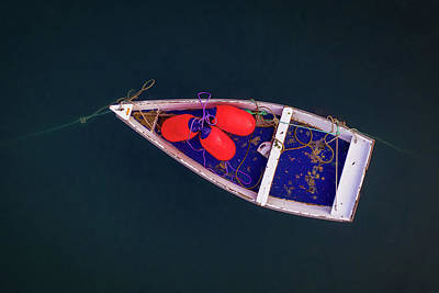 Mid Century Modern - Dinghy at Perkins Cove by Jerry Fornarotto