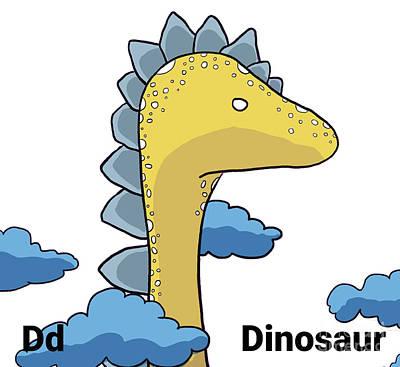Drawing - Dinosaur Nursery Art by Mike Mooney