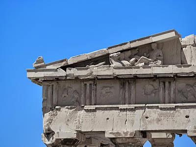 Vintage Chevrolet - Dionysus and Helios horses on Parthenon  by Dimitrios P