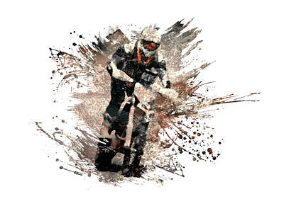 Sports Royalty-Free and Rights-Managed Images - Dirt bike rider by All Sport Art