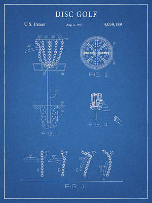 Recently Sold - Sports Royalty-Free and Rights-Managed Images - Disc Golf Patent by Dan Sproul