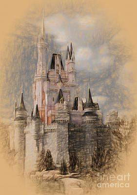 David Bowie - Disney World Castle 9021 by Gull G