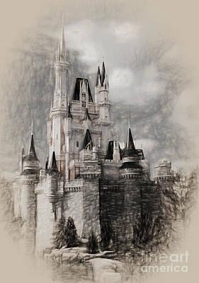 David Bowie - Disney World Castle  998 by Gull G