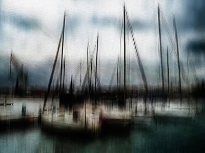 Abstract Male Faces - Docked sailboats by Al Fio Bonina