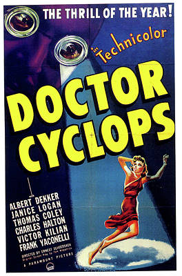 Mixed Media Royalty Free Images - Doctor Cyclops movie poster 1940  Royalty-Free Image by Stars on Art
