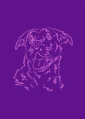 Royalty-Free and Rights-Managed Images - Dog 10b Purple by Ahmad Nusyirwan