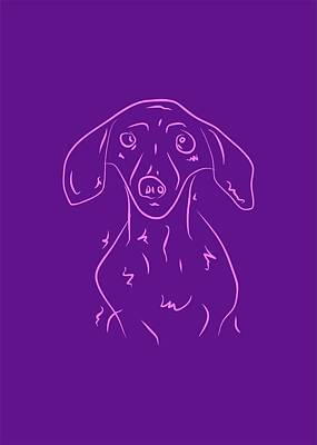 Royalty-Free and Rights-Managed Images - Dog 1b Purple by Ahmad Nusyirwan