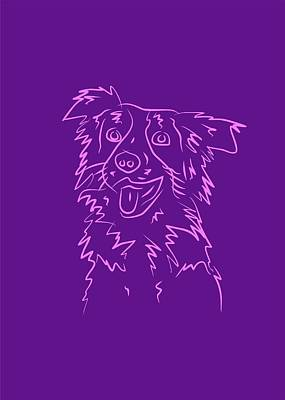 Royalty-Free and Rights-Managed Images - Dog 2b Purple by Ahmad Nusyirwan