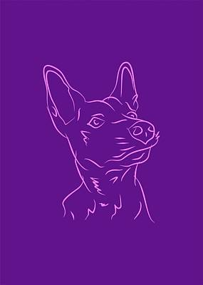 Royalty-Free and Rights-Managed Images - Dog 3b Purple by Ahmad Nusyirwan