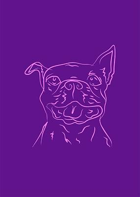 Royalty-Free and Rights-Managed Images - Dog 4b Purple by Ahmad Nusyirwan