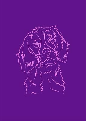 Royalty-Free and Rights-Managed Images - Dog 5b Purple by Ahmad Nusyirwan