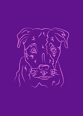 Royalty-Free and Rights-Managed Images - Dog 6b Purple by Ahmad Nusyirwan
