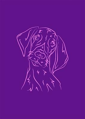 Royalty-Free and Rights-Managed Images - Dog 7b Purple by Ahmad Nusyirwan